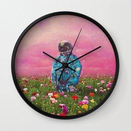 The Flower Field Wall Clock