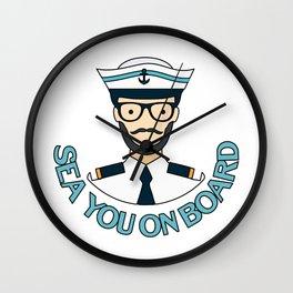 Sailing Boat Ship Seaman Sea You On Board Gift Wall Clock