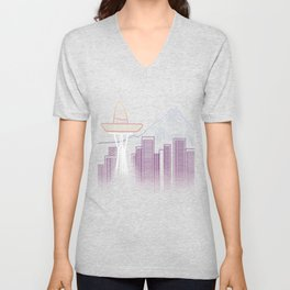 Seattle Sombre Unisex V-Neck
