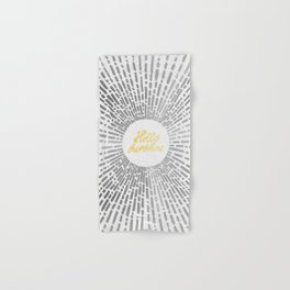 Hello Sunshine Silver Hand & Bath Towel