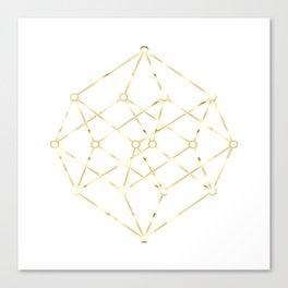 golden line . pink decorative art prints for living rooms, Wallpaper Canvas Print