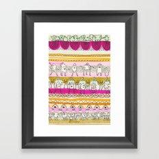 Paralels murs Framed Art Print