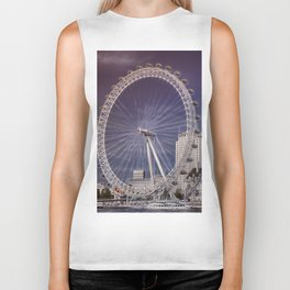 London Eye and the South Bank Biker Tank