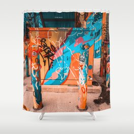 Colorful Streets of Wynwood Shower Curtain