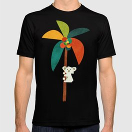 Koala on Coconut Tree T-shirt