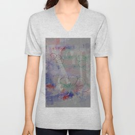 flower pattern color explosion Unisex V-Neck