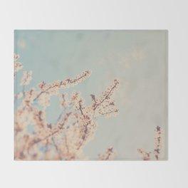 spring is in bloom ...  Throw Blanket