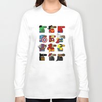 super heroes Long Sleeve T-shirts featuring Super Heroes by nobleplatypus