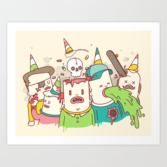 Party Face Art Print