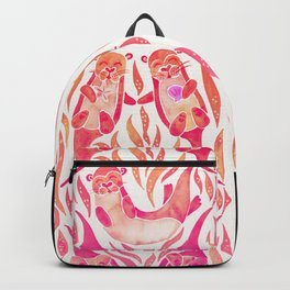 Five Otters – Pink Ombré Backpack