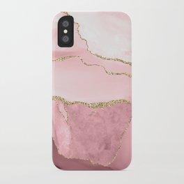 Blush Marble Art Landscape iPhone Case
