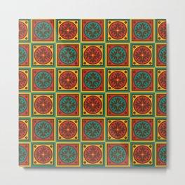 Tapestry pattern Metal Print