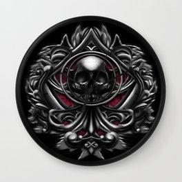 Vampire skull ornament Wall Clock