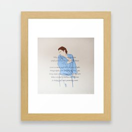 Griefs of mine own lie heavy in my breast Framed Art Print