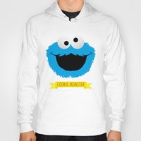 cookie monster Hoodies featuring C FOR COOKIE MONSTER by Emils Blums
