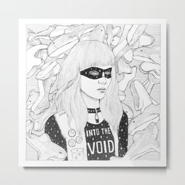Lady of the Sharks Metal Print