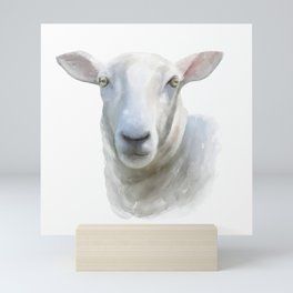 Watercolor Sheep Mini Art Print