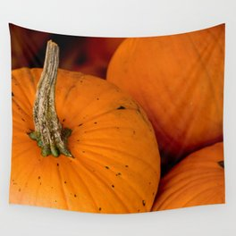 Small Pumpkin in a Pumpkin Patch Wall Tapestry
