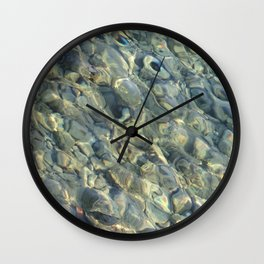 Stones in the River Wall Clock