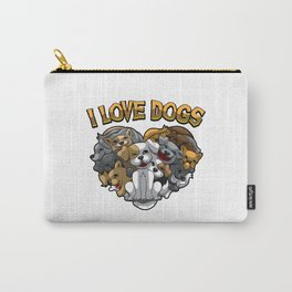 I Love Dogs - Dog Owner Statement Carry-All Pouch