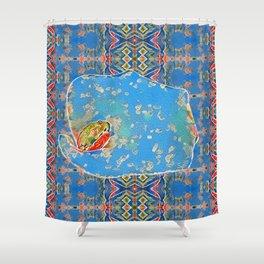 Portrait of a Mediterranean Frog Prince Shower Curtain