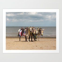 In the Donkey Ride Que Art Print