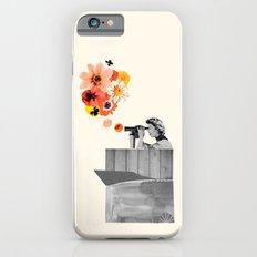 in bloom (black & white) iPhone 6s Slim Case