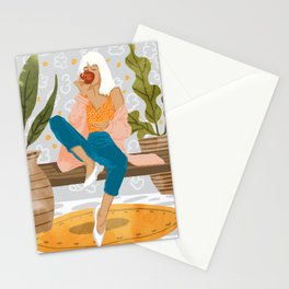 Boss Lady #illustration #painting Stationery Cards