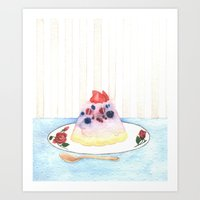 dessert Art Prints featuring Dessert by Ghost Pages