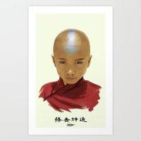 aang Art Prints featuring Avatar Aang by Han Jihye