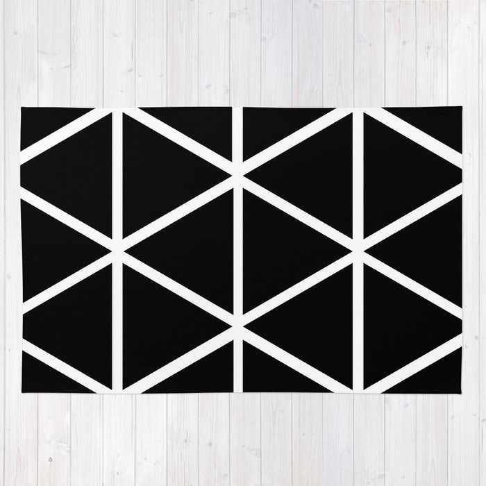 BLACK & WHITE TRIANGLES 2 Rug