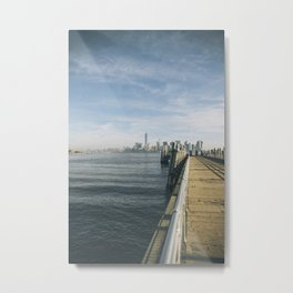 NY Skyline from Liberty Island Metal Print