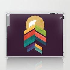 Lingering mountain with golden moon Laptop & iPad Skin
