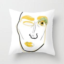 Stank Eye Throw Pillow