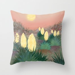 Succulents in twilight Throw Pillow