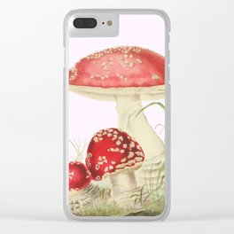 Agaricus Muscarius Clear iPhone Case