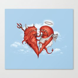 Love at fifth sight Canvas Print