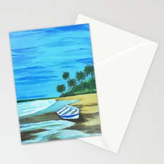 Boat on the beach Stationery Cards