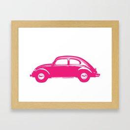 Pink Bug Framed Art Print