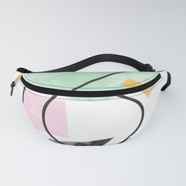 Abstract. Line. circle, triangle, rectangle Fanny Pack