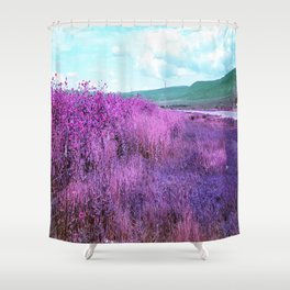 Wild Sunflowers by the Road Shower Curtain
