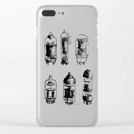 Vacuum Tubes Clear iPhone Case
