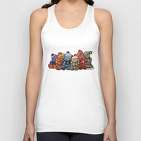 cuddle Tank Tops featuring Cuddle by Friederike Ablang