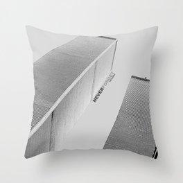 September 11 Tribute - Never Forget - World Trade Center Throw Pillow