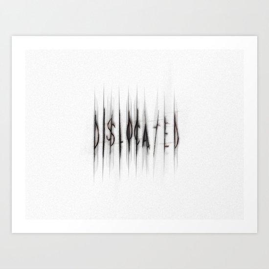 Dislocated_white Art Print
