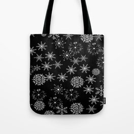 Black and White Snowflakes Tote Bag