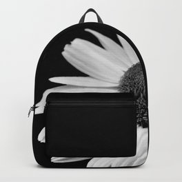 Half Daisy in Black and White Backpack