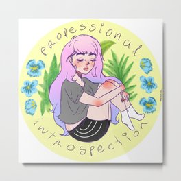 Professional Introspection. By Ane Teruel Metal Print