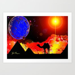 Ancient Alien Ruins Art Print