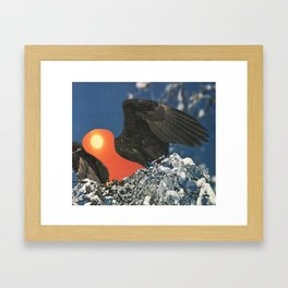 Heat Warning Framed Art Print
